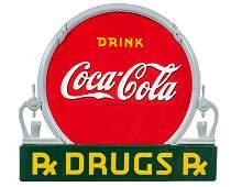 Rare Coca Cola Fountain Porcelain Sign