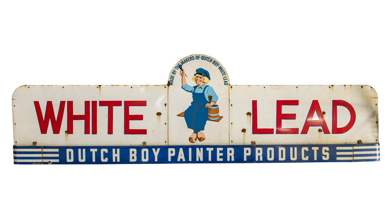 Dutch Boy White Lead Horizontal Sign Large