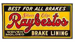 Silver Edge Raybestos Brake Lining Sign