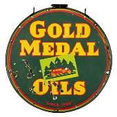Kunz Gold Medal Oils Sign In Frame