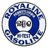 Royaline Hi-Test Gasoline Curb Sign