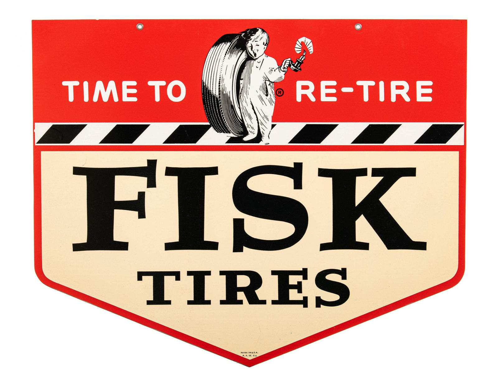 Fisk Tires Time To Re-Tire Hanging Sign
