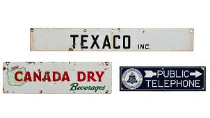 Lot Of 3 Various Signs