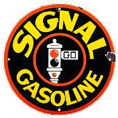 Signal Gasoline Gas Pump Plate