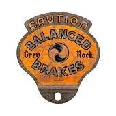 Grey Rock Brakes License Plate Topper