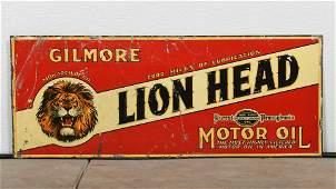 Rare Gilmore Lion Head Sign