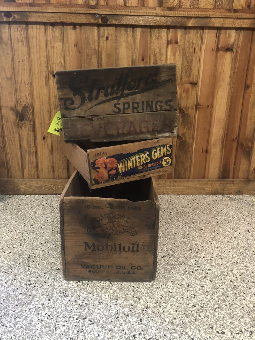 Lot Of Three Wooden Crates