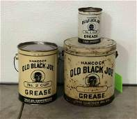 Lot Of 3 Old Black Joe Cans