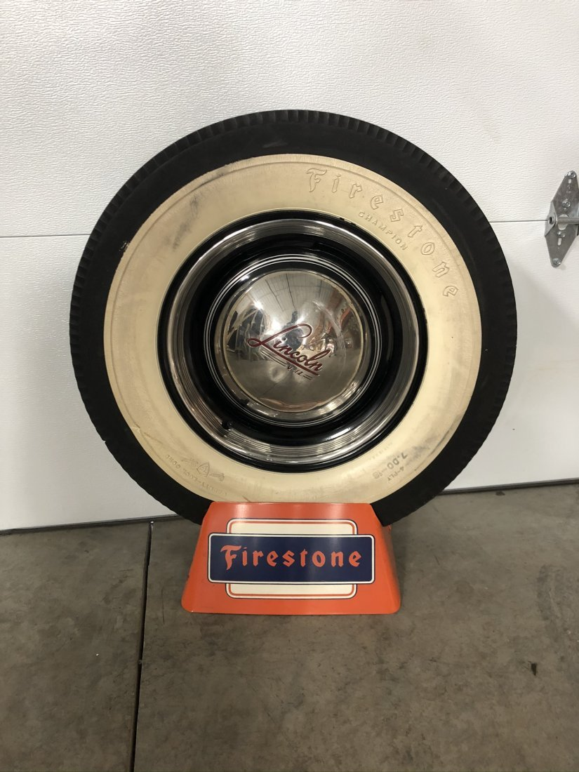 Firestone Tire Stand With Wheel
