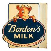 Bordens Milk Flange Sign
