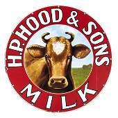 H.P. Hood & Sons Milk Porcelain Sign