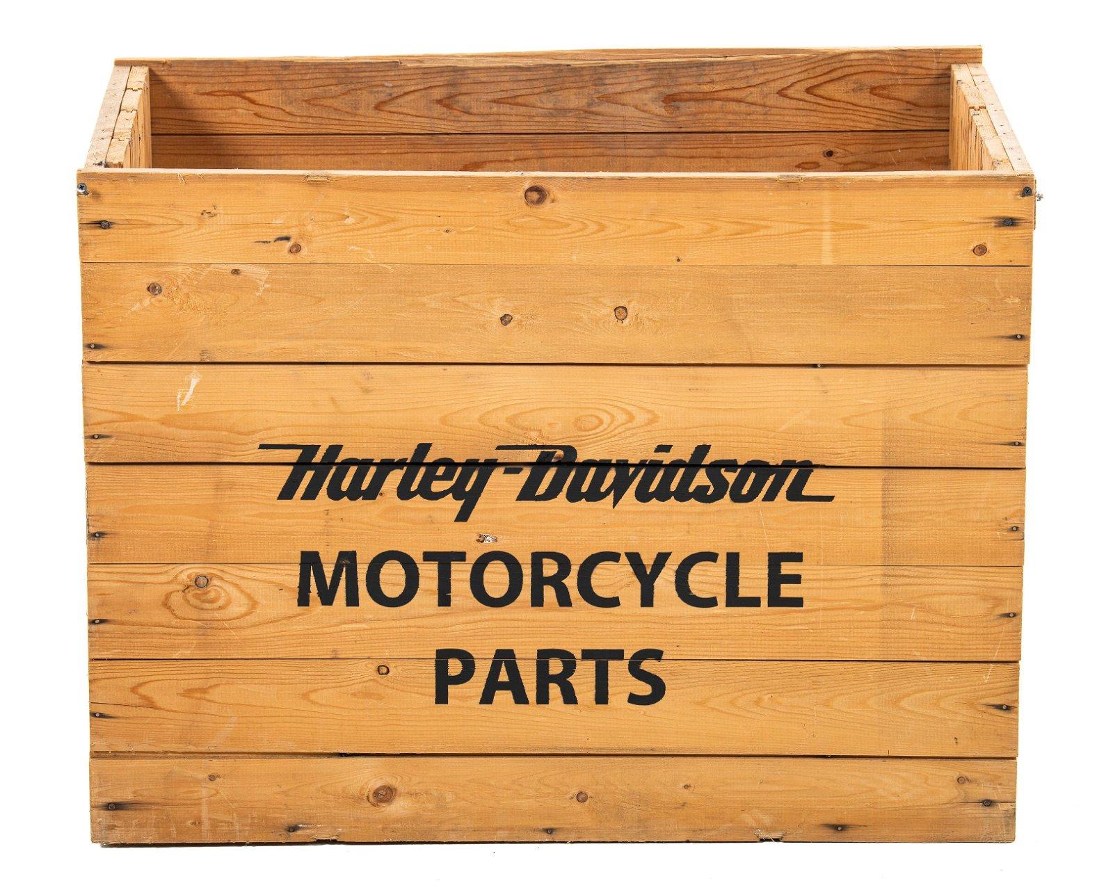 Harley Davidson Motorcycle Parts Wood Crate