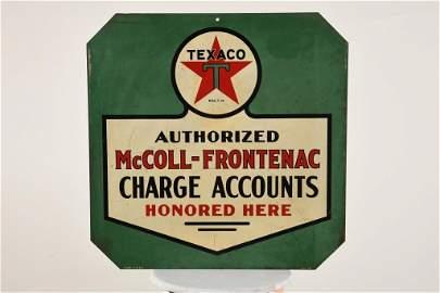 Rare McColl-Frontenac Texaco Sign