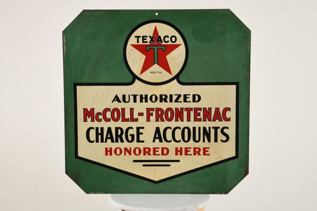 Rare McColl-Frontenac Texaco Sign