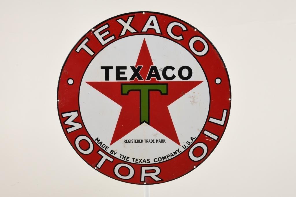 Texaco Motor Oil Sign Small Version