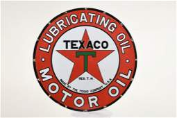 Rare Texaco Lubricating Oil Sign