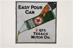 Rare Texaco Easy Pour Motor Oil Sign