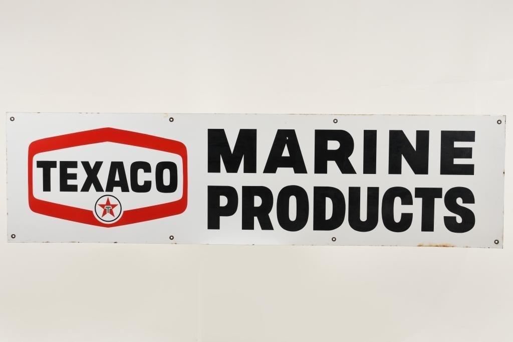Texaco Marine Products Sign