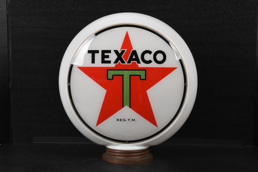 "Texaco Gas Pump Globe Black ""T"""
