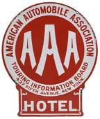 American Automobile Association Hotel Sign