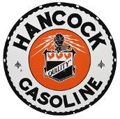 Hancock Gasoline Curb Sign