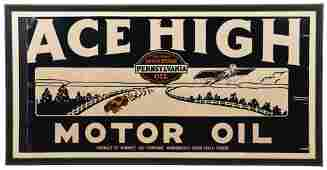 Ace High Motor Oil Sign