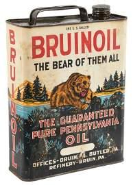 Rare Bruinoil 1 Gallon Oil Can