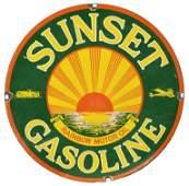 Sunset Gasoline Sign