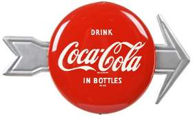 Drink Coca Cola In Bottles Button W/Arrow