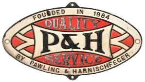 P & H Cast Sign