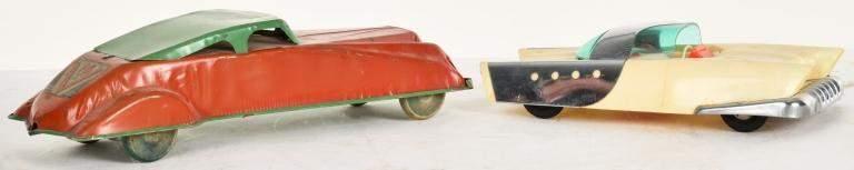 2 VINTAGE TOY CARS