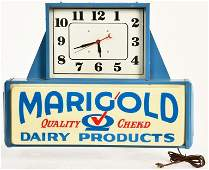 MARIGOLD DAIRY PRODUCTS ADVERTISING CLOCK