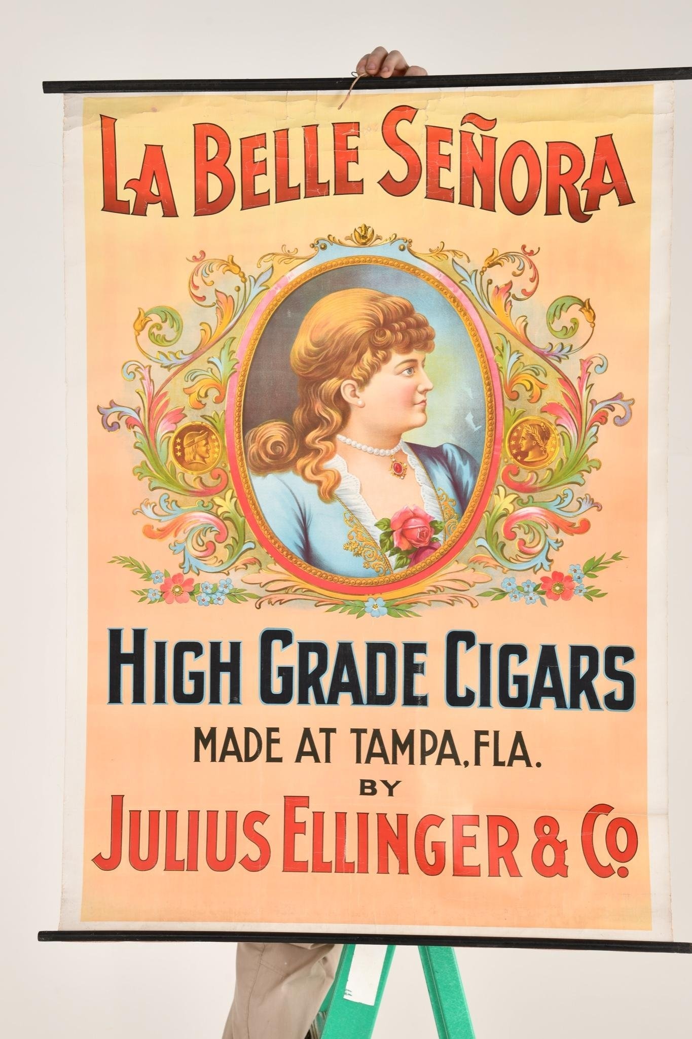 LA BELLE SENORA CIGARS ADVERTISING POSTER