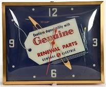 GENERAL ELECTRIC GENUINE PARTS ADVERTISING CLOCK