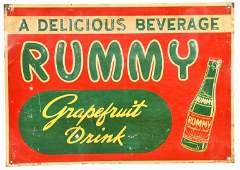 RUMMY GRAPEFRUIT DRINK SIGN