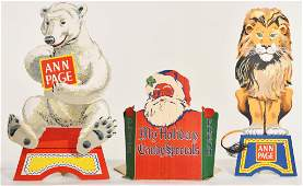 3 COLLECTIBLE CARDBOARD ADVERTISING PIECES