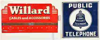 2 COLLECTIBLE ADVERTISING SIGNS
