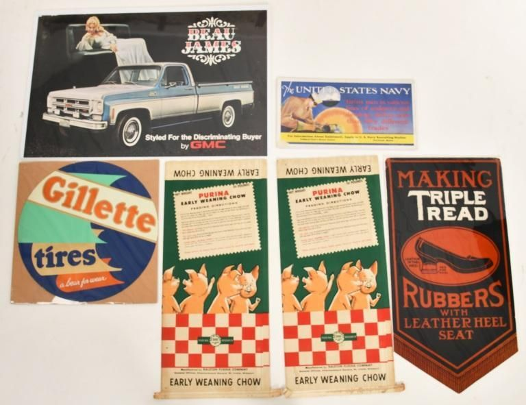 LOT OF 6 ADVERTISING PIECES