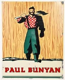 VERY RARE PAUL BUNYAN BEER SIGN