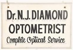 DR DIAMOND OPTOMETRIST SIGN
