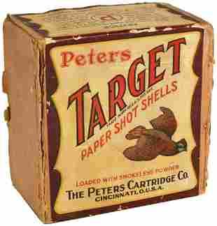 Early Peters Target 12 Gauge Shot Shell Box