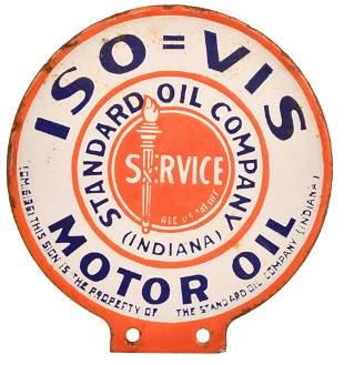 Standard ISO=VIS Motor Oil Porcelain Paddle Sign