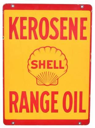 Shell Kerosene Range Oil Porcelain Sign