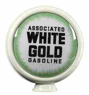 """Associated White Gold Gasoline 15"""" Single Globe Lens"""