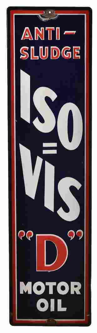 "ISO=Vis ""D"" Motor Oil Porcelain Sign"