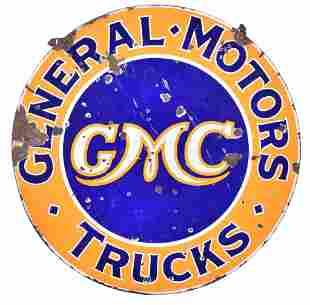 GMC General Motors Trucks Porcelain Sign