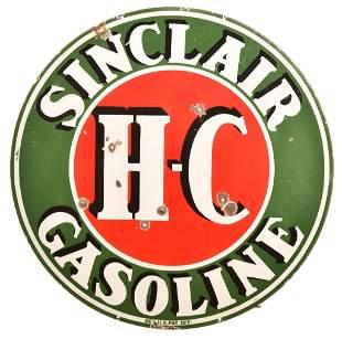 Sinclair H-C Gasoline Porcelain Sign