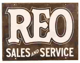 REO Sales and Service Porcelain Sign