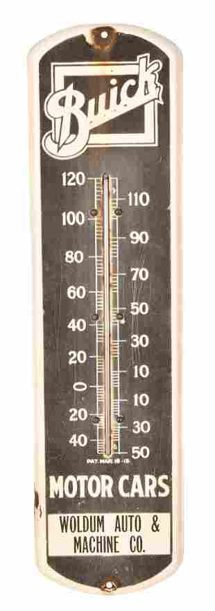 Buick Motor Cars Porcelain Thermometer