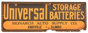 Universal Storage Batteries Metal Sign